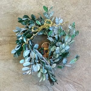 Miniature Holiday Wreath Preserved Dried Boxwood